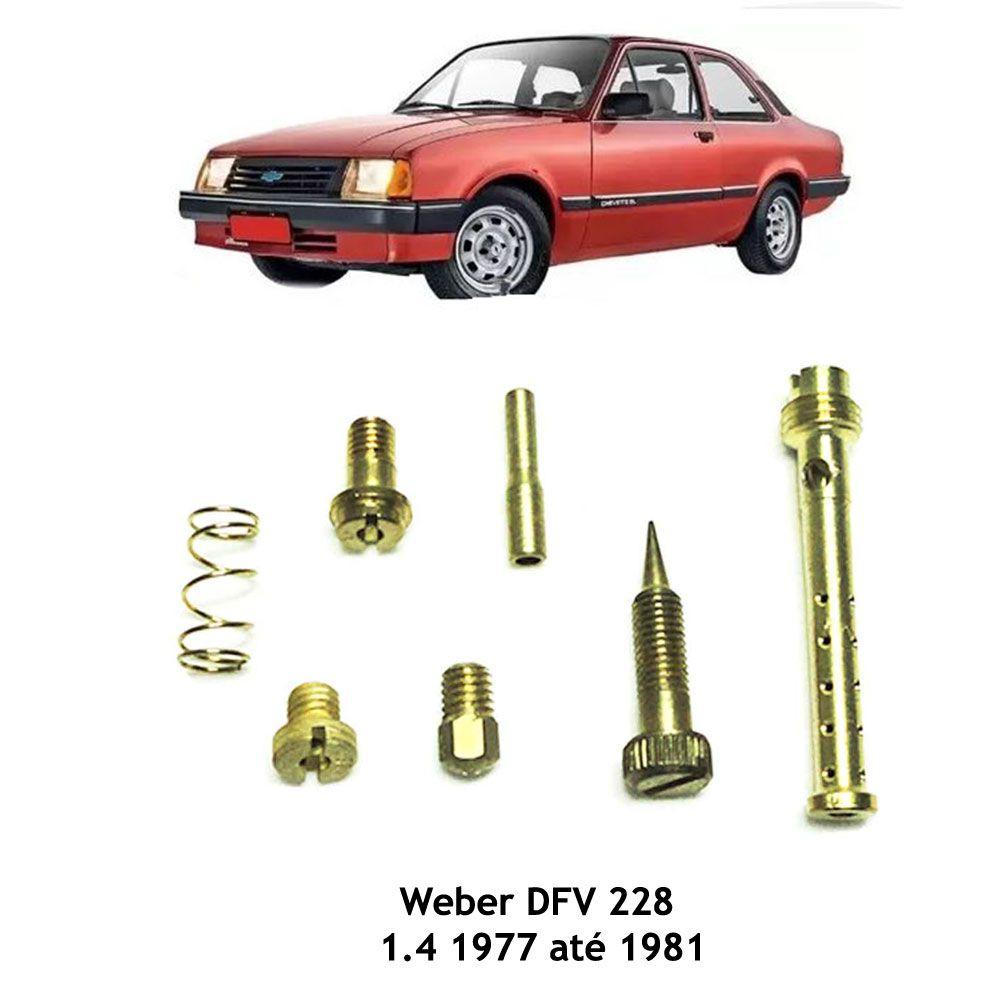 Kit Gicle Carburador Weber 228 Chevette 1.4 Gasolina 1977 - 1981