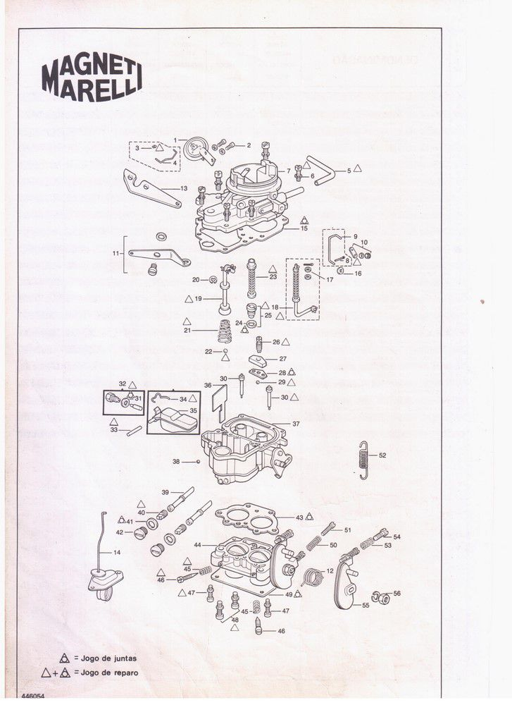 Kit Gicle Carburador Weber 446 DFV Opala 6cc Gas 446069 84...