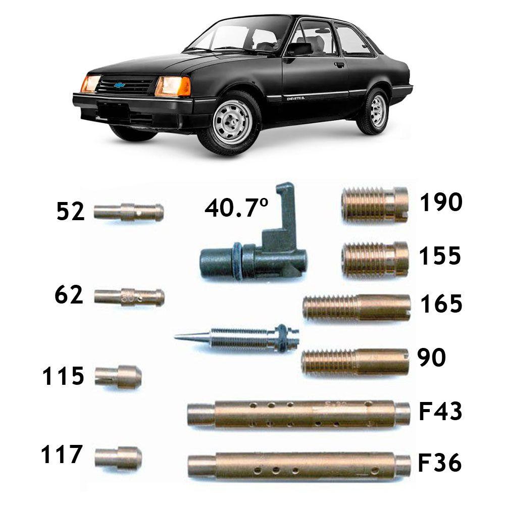 Kit Gicle Carburador Weber 460 Chevette 1.6 Gasolina 1987 em diante