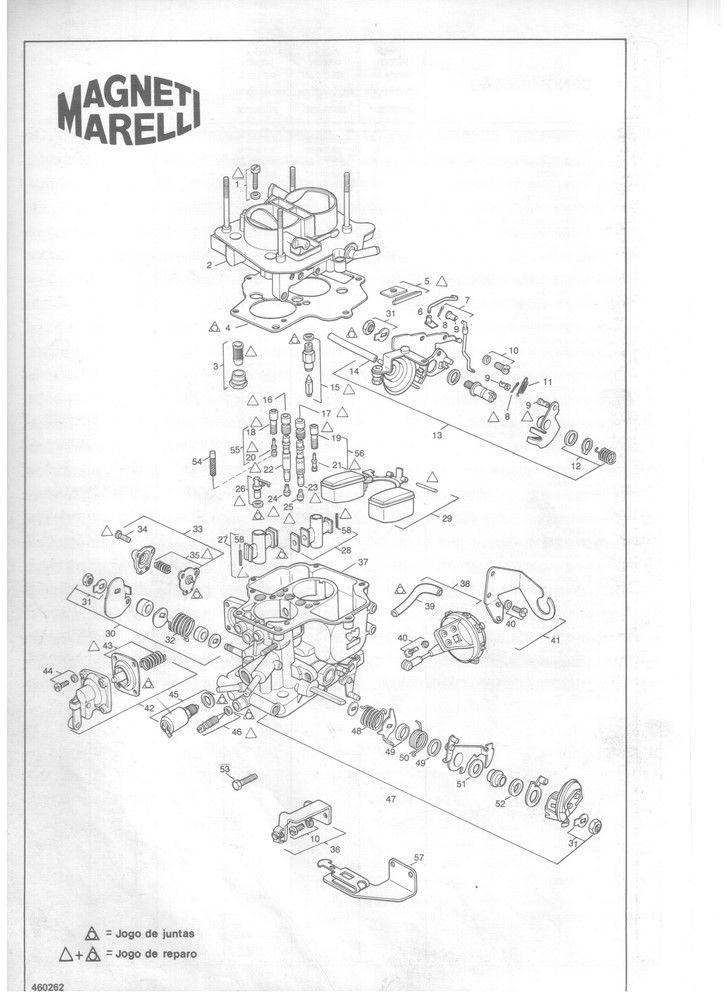 Kit Gicle Carburador Weber 460 Escort Logus 1.6 CHT a partir 1993 Gasolina