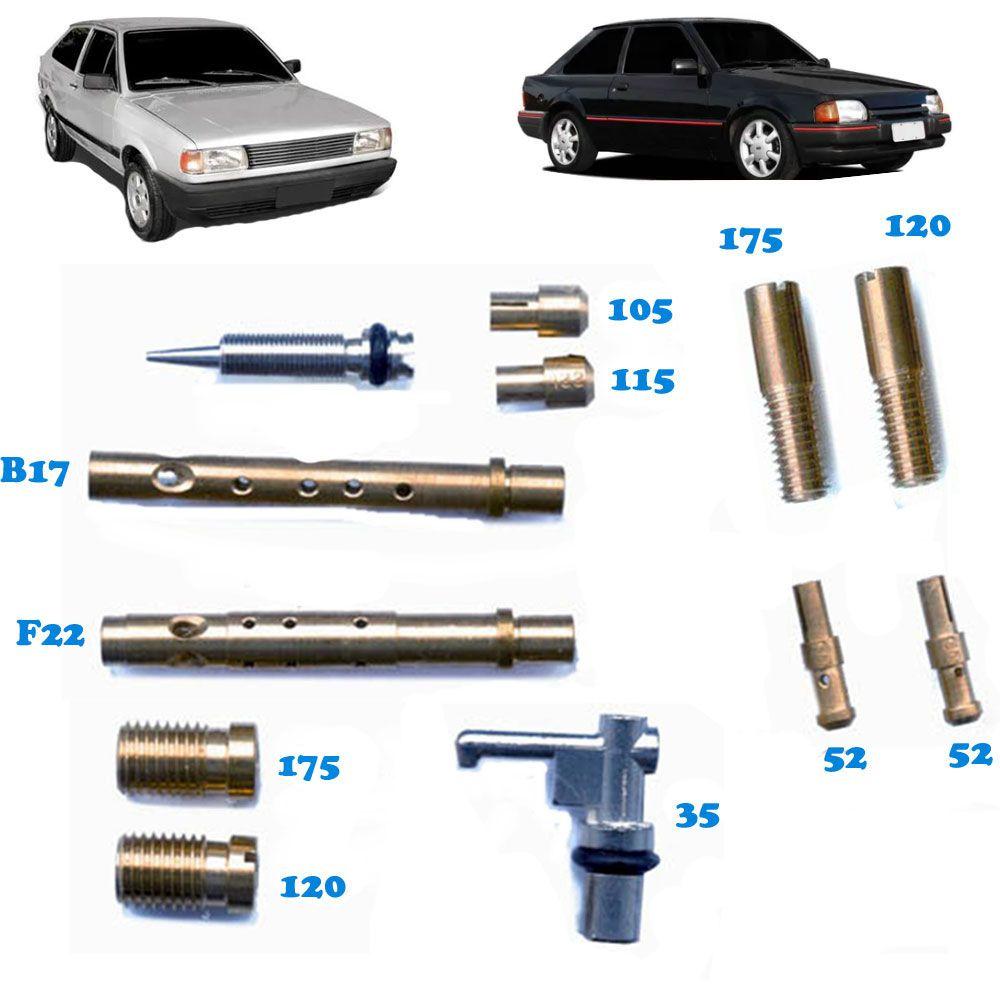 Kit Gicle Carburador Weber 460 Gol 1000 Escort 1.0 Gasolina 1993 em diante