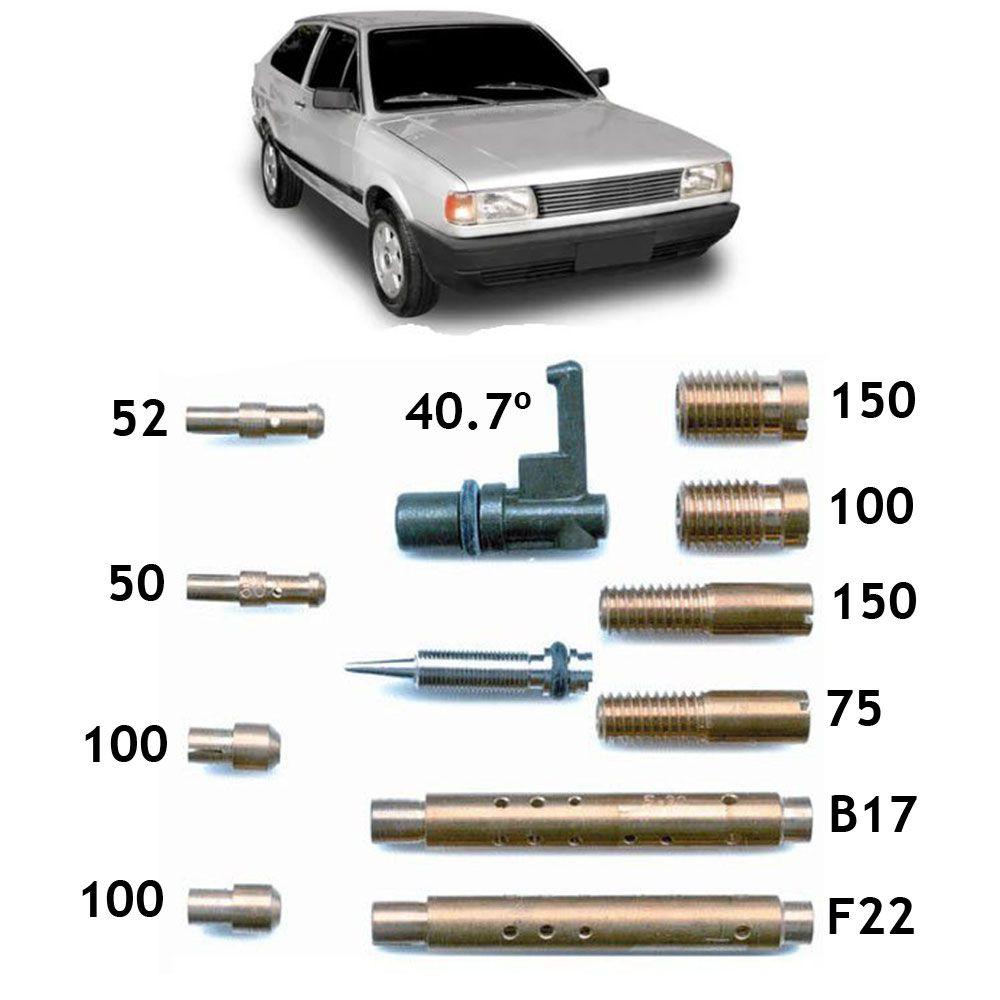 Kit Gicle Carburador Weber 460 Gol 1.6 CHT Gasolina 1991 em diante