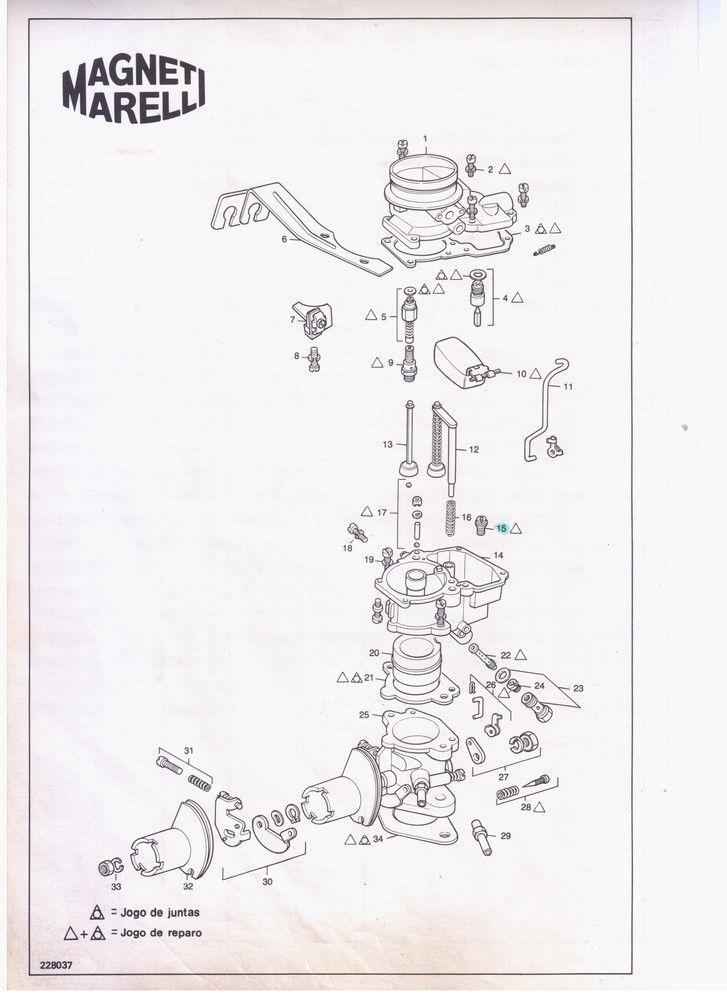 Kit Gicle Carburador Weber DFV228 Opala 4cc Gasolina 1972 a 1974