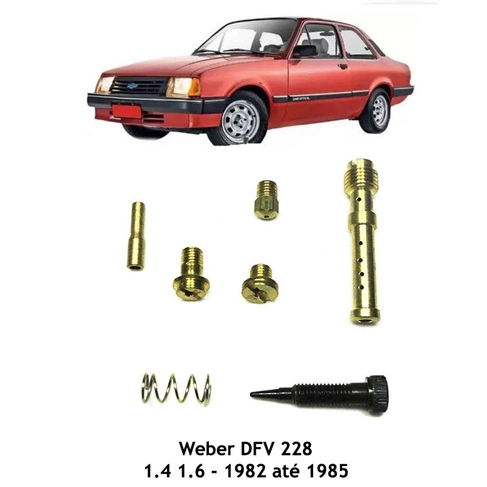 Kit Gicle Carburador Weber DFV 228 Chevette 1.4 1.6 1982 a 1985 Gasolina