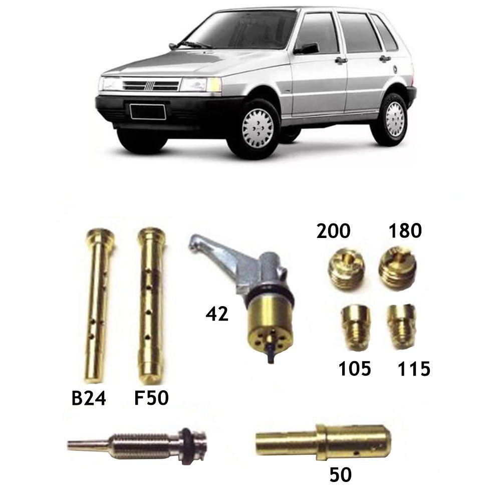 Kit Gicle Carburador Weber TLDZ Uno Mille Gasolina - 1992 até 1994