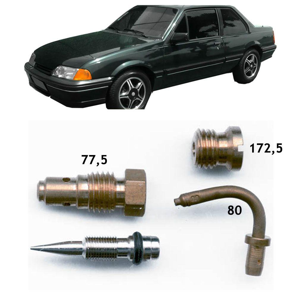 Kit Gicles Carburador Solex 35 ALFA I Simples Monza 1.8 Álcool 1984 até 1985