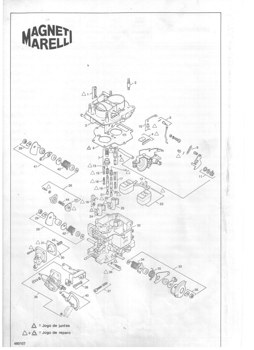 Prisioneiro Tampa Carburador Weber 460 Uno Premio Elba Chevette 5x5x30 mm