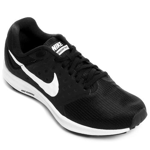 Tênis Nike Downshifter 7 Preto Branco Masculino