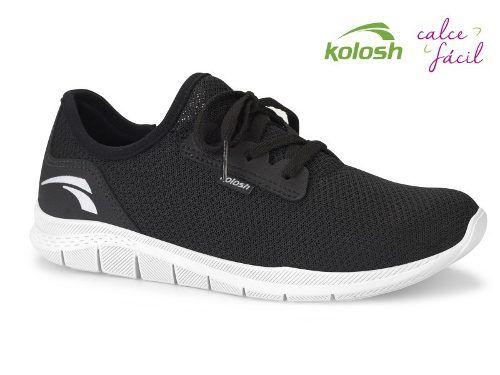 Tênis Casual Feminino Kolosh Racer Preto - Ref.: K8681