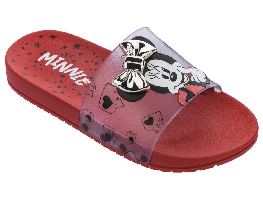 Chinelo Slide Grendene Kids Minnie Fashion Fun Gaspea Infantil 22316