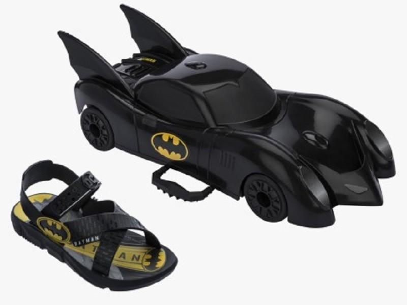 Sandália Batman Grendene Kids Infantil Brinde Batmovel 22169