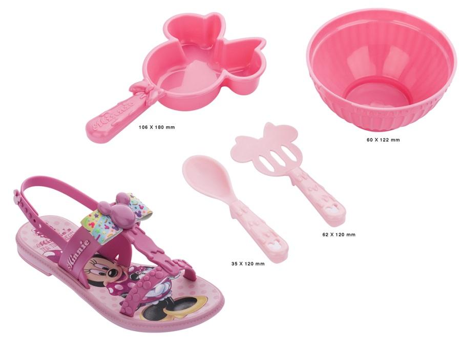 Sandália Infantil Grendene Kids Minnie Little Chef 22417