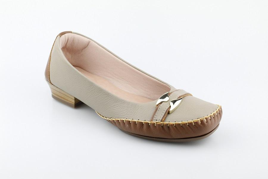 Sapatilha Feminina Brand Shoes Couro Confort 1804