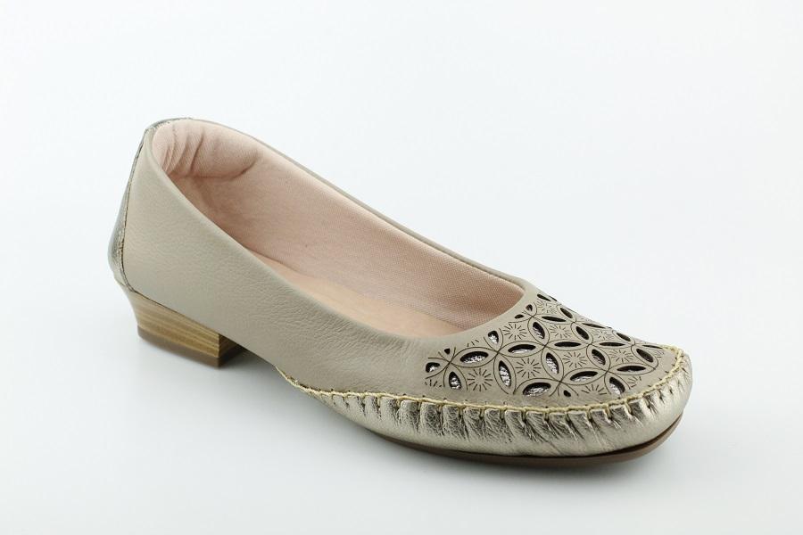 Sapatilha Feminina Brand Shoes Couro Confort 1904