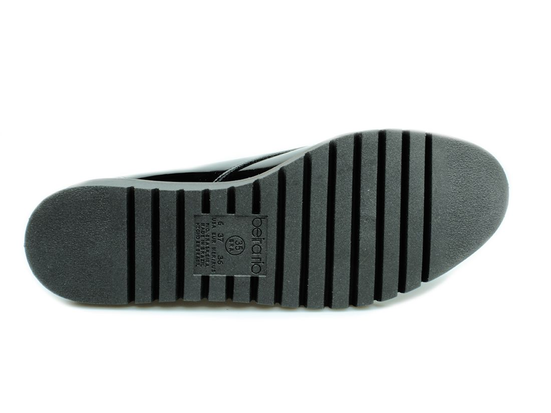 Sapato feminino Beira Rio Conforto Preto Verniz 4174.419