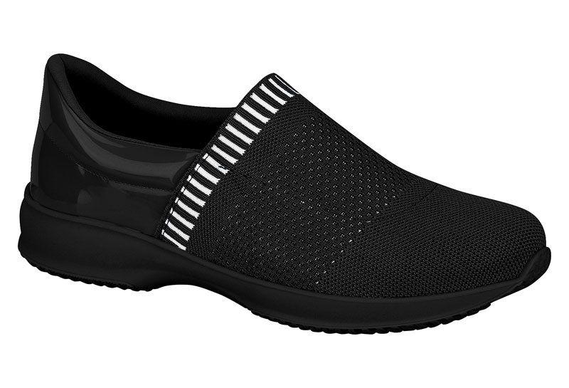 Sapato Casual Feminino Modare Linho Linear Verniz Premium Multi Preto 7321.110