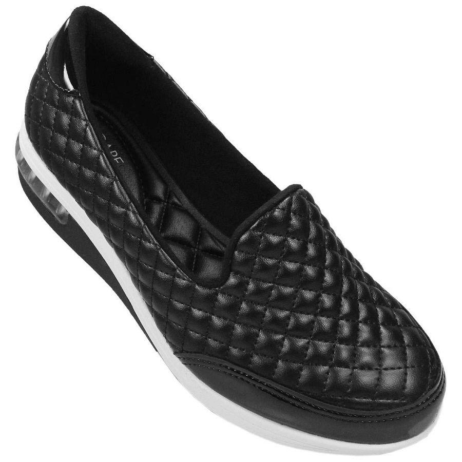 Sapato casual Feminino Modare Napa Sense Flex Preto 7320.107