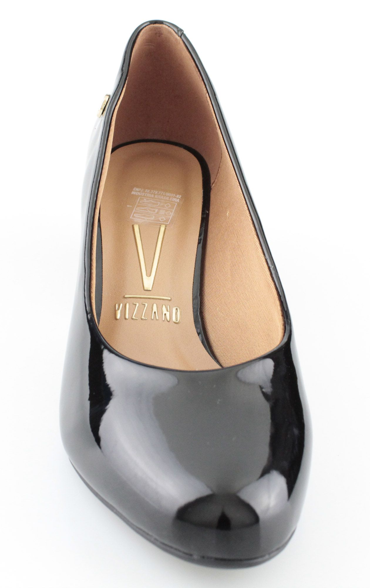 Sapato Feminino Vizzano Preto Verniz Cristal Brilho 1258.100