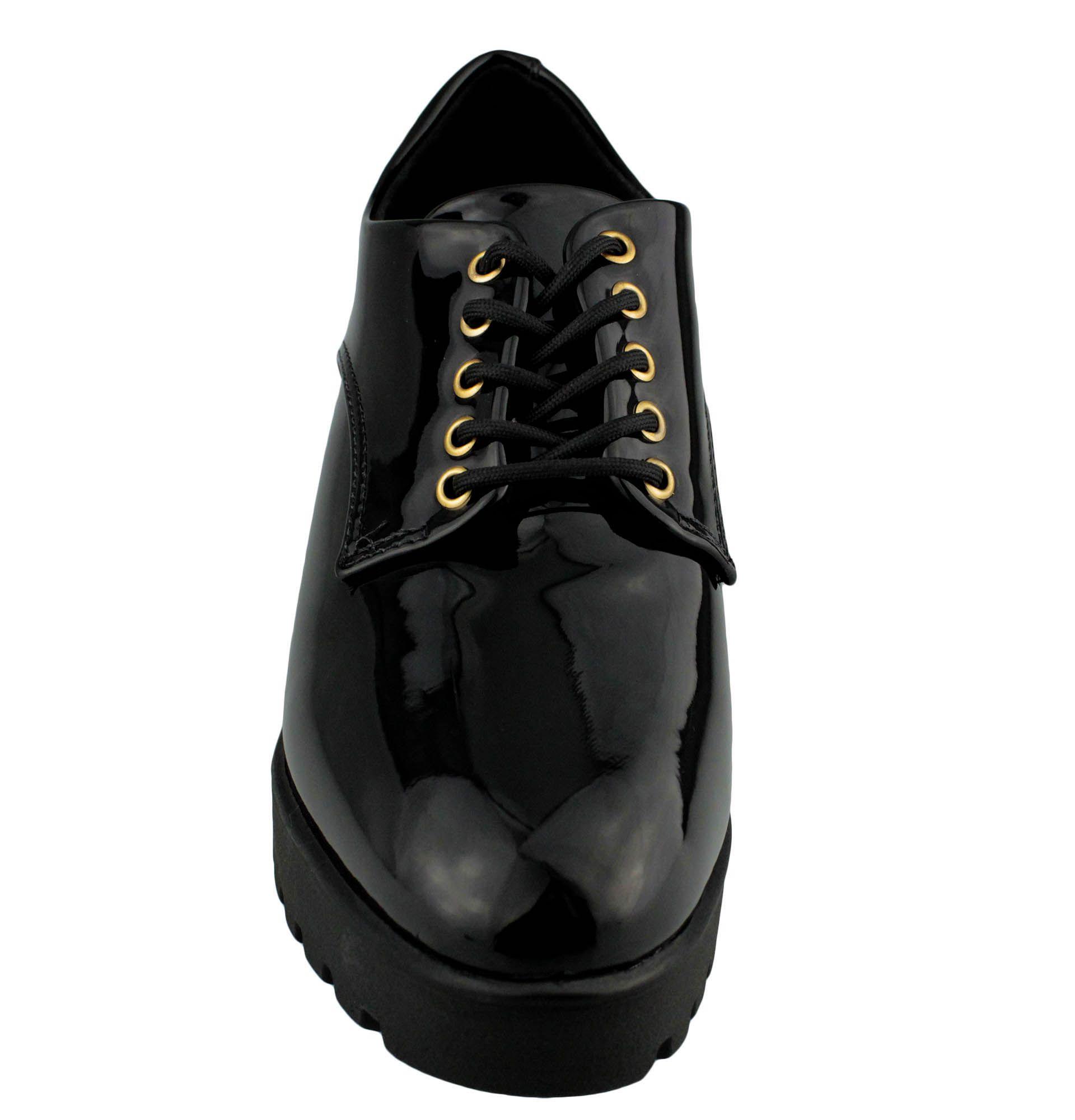 Sapato Oxford Vizzano Feminino Preto (Verniz Premium) 1294.100