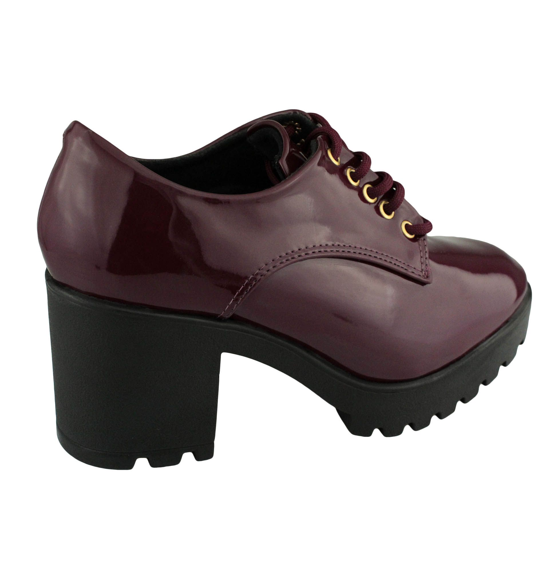 Sapato Oxford Vizzano Feminino Vinho (Verniz Premium) 1294.100