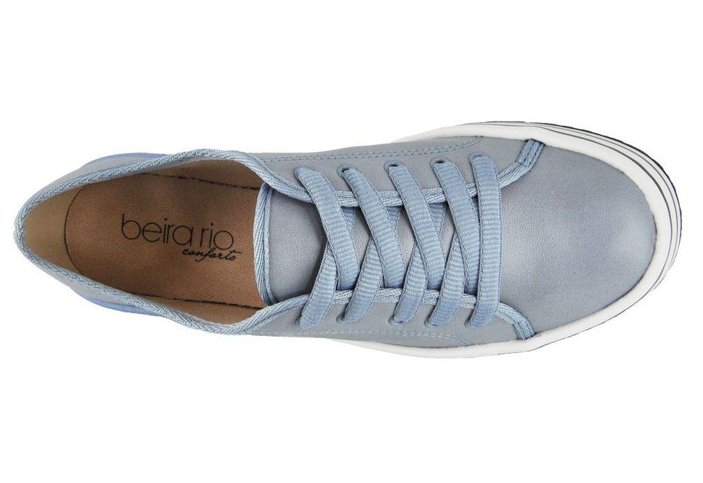 Tênis Flatform Beira Rio Conforto Azul Claro 4194.702