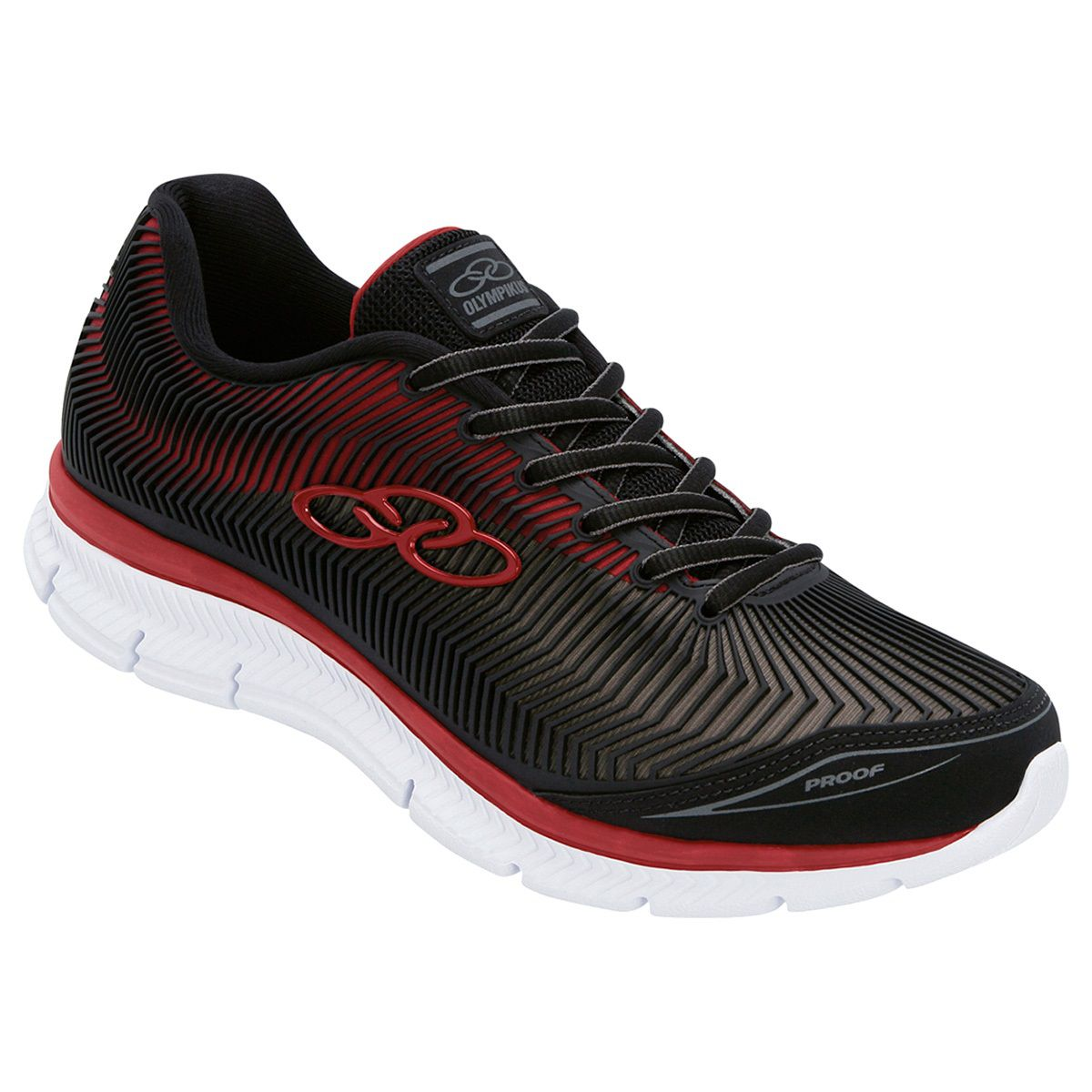 Tênis Masculino Proof Preto/vermelho Olympikus - 233