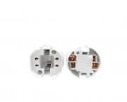 Base G24q3  para lâmpada fluorescente, termoplástico, cor branco, 2A/250V 4pinos, pacote 50un