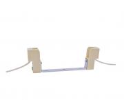Base Rx7s para lâmpada metálica70W-10A/250V, com suporte, caixa com 20 unidades