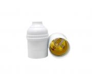 Bocal/Soquete E27 pendente sem chave, cor branco, 4A/0-250V, caixa com 50 unidades