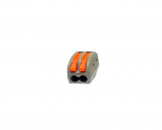 Conector de emenda e derivação 0,5 4mm, 2P, 32A, cor cinza, (pacote 5un.)