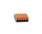 Conector de emenda e derivação 0,5 4mm, 5P, 32A, cor cinza, pacote 4unidades