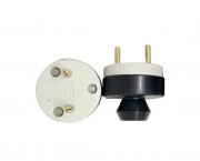 Pino externo polarizado, porcelana, 20A/380V 2 pólos, caixa 10 unidades