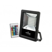 Refletor DecorLED SUPER LED, 100 240V 50W RGB, cor preto, (1un.)