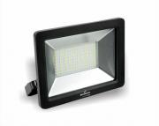 Refletor super LED, 100-240V 50W luz branca, cor preto