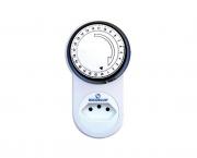 Temporizador analógico 100-240V 10A, cor branco