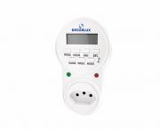 Temporizador digital 100-240V 10A, cor branco