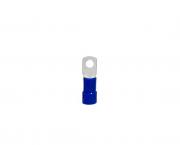 Terminal anel M6 pré isolado 16,0mm 68A, cor azul, pacote 50 unidades