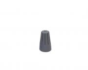 Terminal conector torção 2x1,0mm, cor cinza, pacote 50 unidades