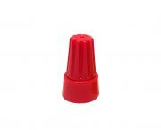 Terminal conector torção 2x6mm, cor vermelho, pacote 50 unidades