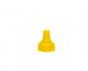 Terminal conector torção com borda 2x6,0mm, cor amarelo, pacote 50 unidades