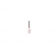 Terminal  ilhós simples tubular 0,75mm 10A, cor branco, pacote 50 unidades