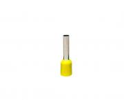 Terminal ilhós simples tubular 4,0mm 28A, cor amarelo, pacote 50 unidades