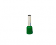 Terminal ilhós simples tubular 6,0mm 36A, cor verde, pacote 50 unidades