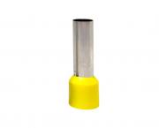 Terminal  ilhós simples tubular longo 25,0mm² 89A, cor amarelo, pacote 50 unidades
