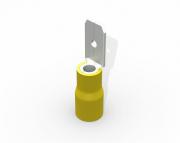 Terminal luva macho pré isolado  4,0-6,0mm 24A, cor amarelo, pacote 50 unidades
