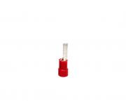 Terminal pino pré isolado 31,0mm 10,0mm 50A, cor vermelho, pacote 50 unidades