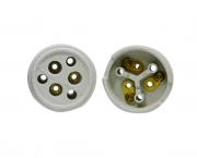 Tomada externa polarizada, porcelana, 20A/0-380V 3 pólos, caixa 10 unidades