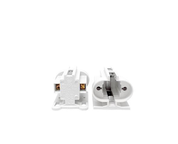 Base G23 para lâmpada fluorescente, termoplástico, cor branco, 2A, 250V 2pinos, (pacote 50un)