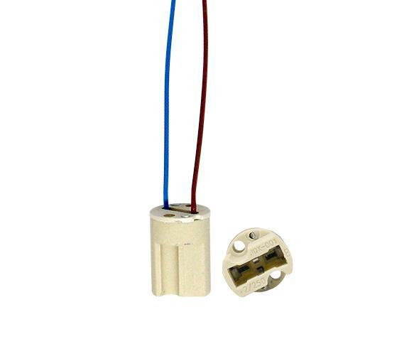 Base G9 para lâmpada halógena halopin, 2A, 0-250V, com rabicho, (pacote 20un.)