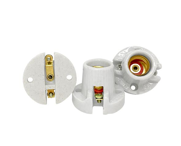 Bocal / Soquete E14 fixo porcelana, cor branco, 1A, 0-250V, (caixa 50un.)